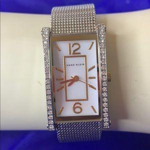 Anne Klein Dress Crystal Mesh Band Watch
